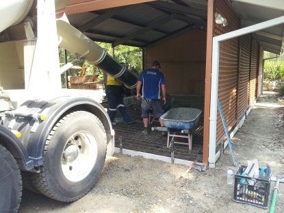 new concrete garage floor