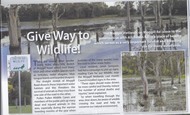 Give Way to Wildlife Local Bulletin 2013