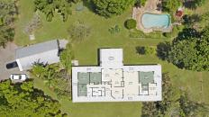 Layout of main house
